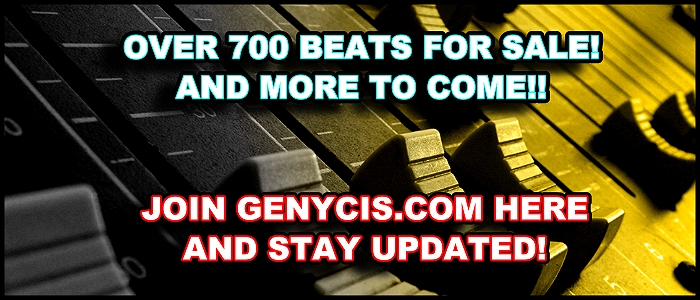 Now Over 700 Beats For Sale and More To Come!!  Join Genycis.com And Stay Updated!